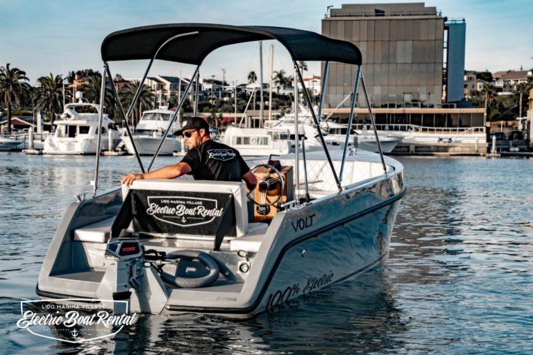 Volt 180 | Newport Beach Electric Boats Rental | Duffy | 2